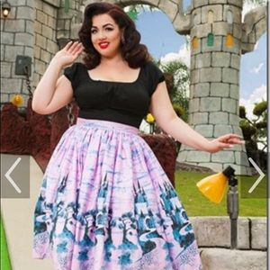 Pink Castles Pinup Couture skirt Size M NWOT